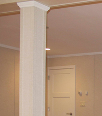Easy Wrap column sleeves in Suffield basement