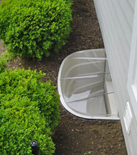 basement egress window well in Chicopee