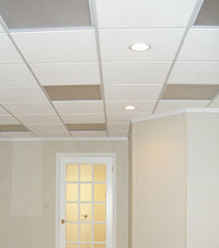 Basement Ceiling Tiles for a project we worked on in Massachusetts