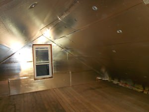 A Springfield attic with SuperAttic installed.
