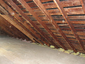 A Massachusetts and Connecticut attic before installation of SuperAttic