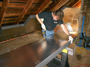 Rigid Foam Insulation in Hartford, CT Attic